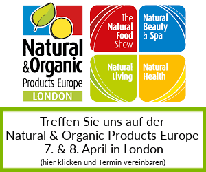 Treffen Sie uns auf der Natural & Organic Products Europe in London 2019